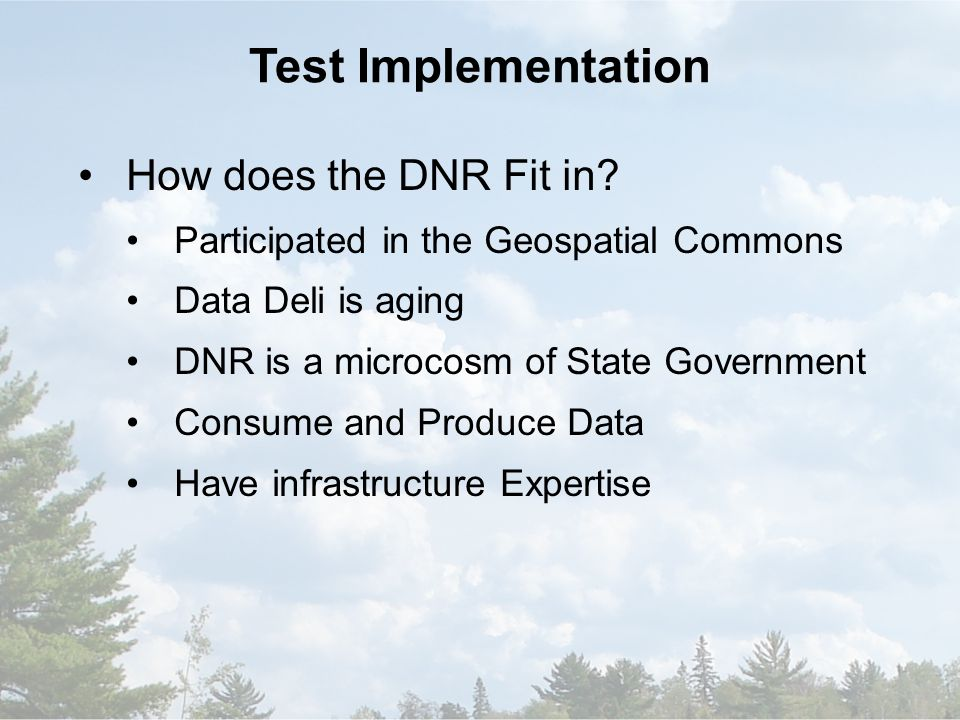 How does the DNR Fit in.