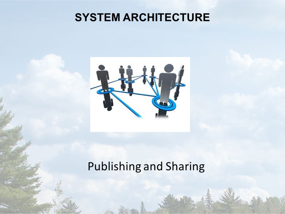 SYSTEM ARCHITECTURE Publishing and Sharing