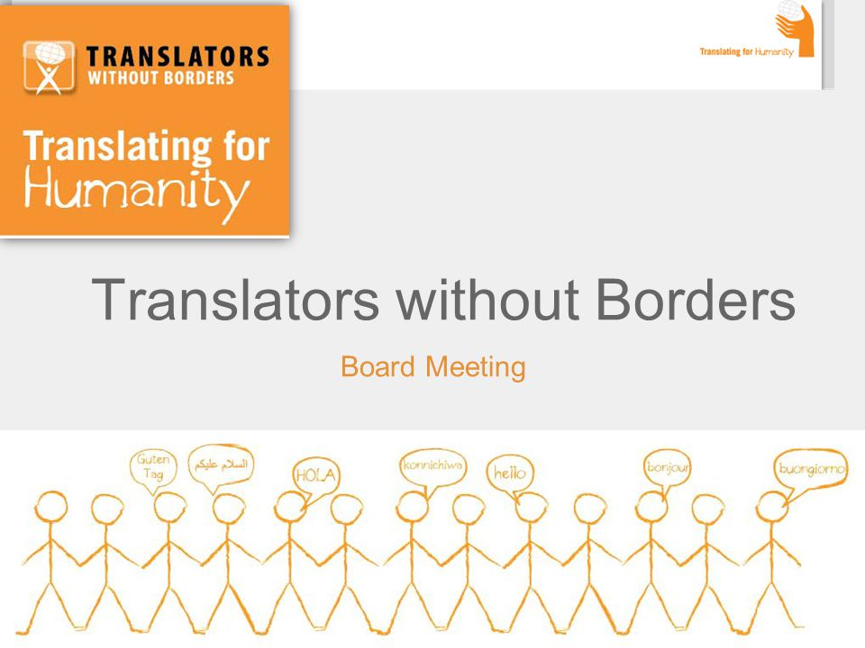 Translators without Borders Board Meeting