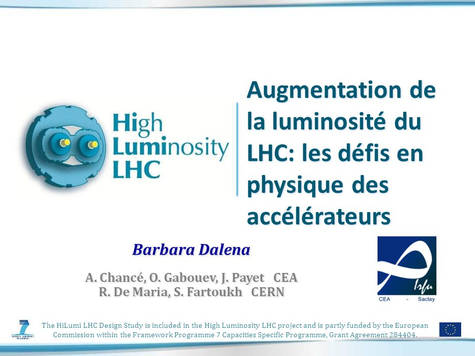The HiLumi LHC Design Study is included in the High Luminosity LHC project and is partly funded by the European Commission within the Framework Programme 7 Capacities Specific Programme, Grant Agreement 284404.