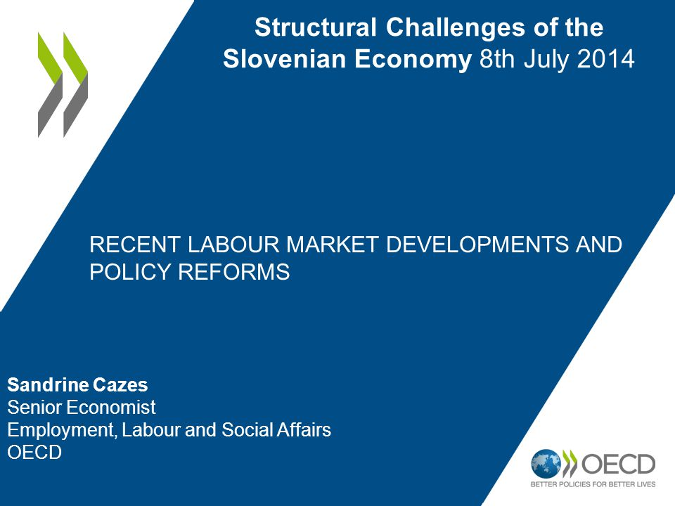 2 1.Latest developments in the labour market situation in OECD countries 2.A key challenge: growing labour market segmentation 3.Recent reforms to employment protection legislation 4.Policy options 5.Concluding remarks Outline