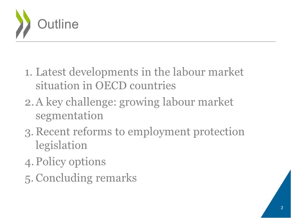 3 The labour market impact of the crisis and recovery has been highly uneven across countries Unemployment rate, percentage of the labour force Source: OECD Short-Term Labour Market Statistics Database (Cut-off date: 5 March 2014 ).