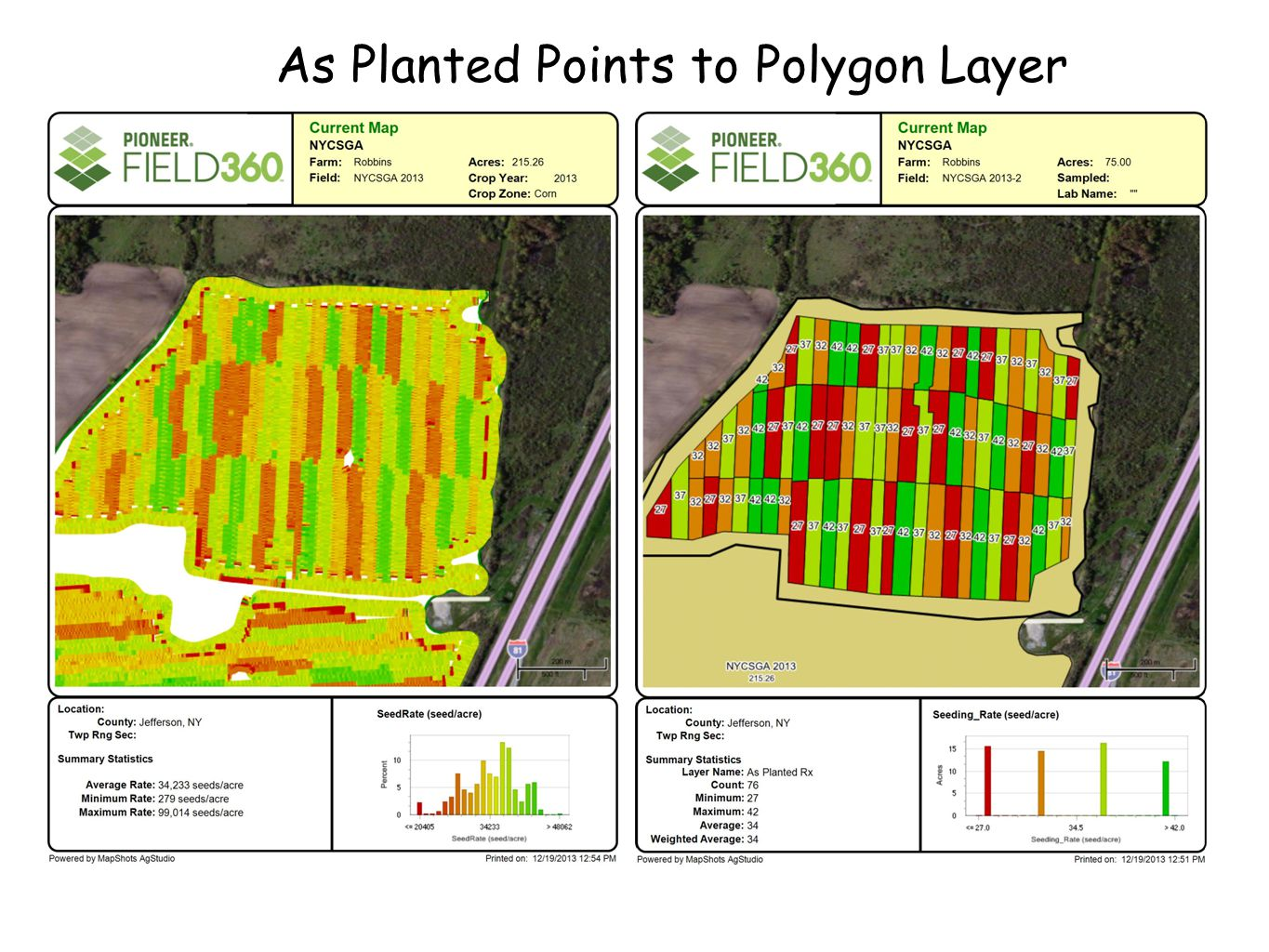 As Planted Points to Polygon Layer