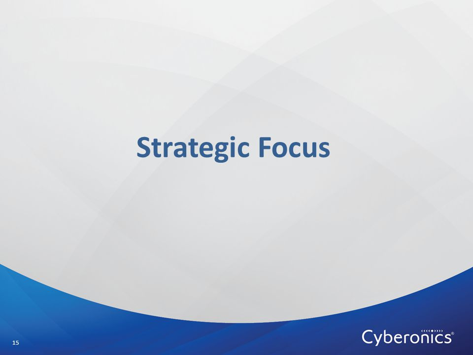 Strategic Focus 15
