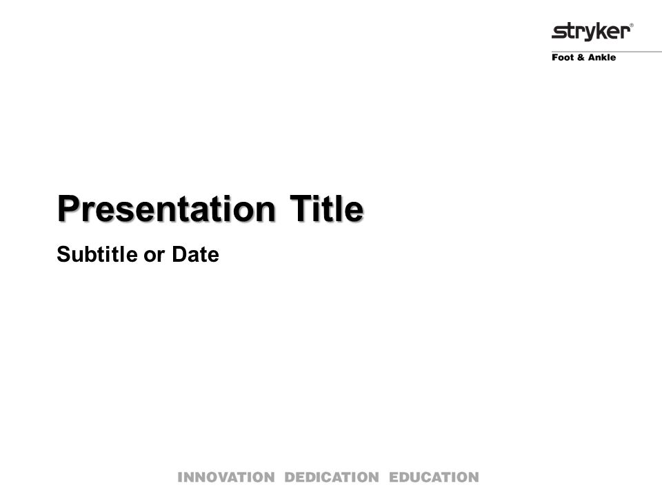 Presentation Title Subtitle or Date