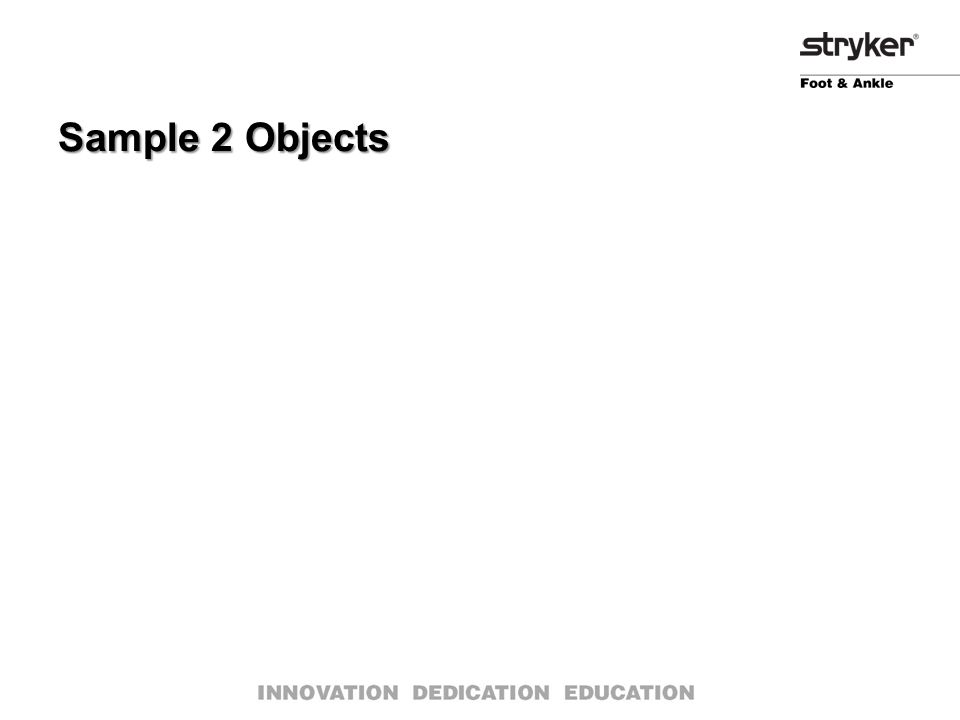 Sample 2 Objects