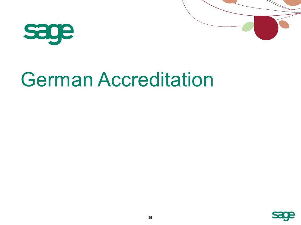 35 German Accreditation