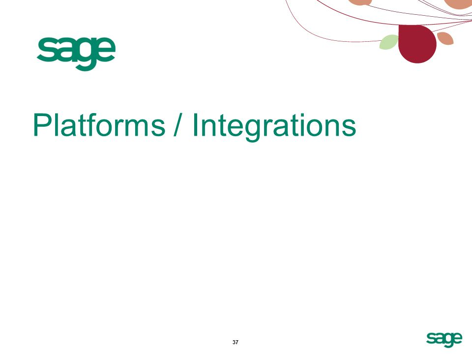 37 Platforms / Integrations