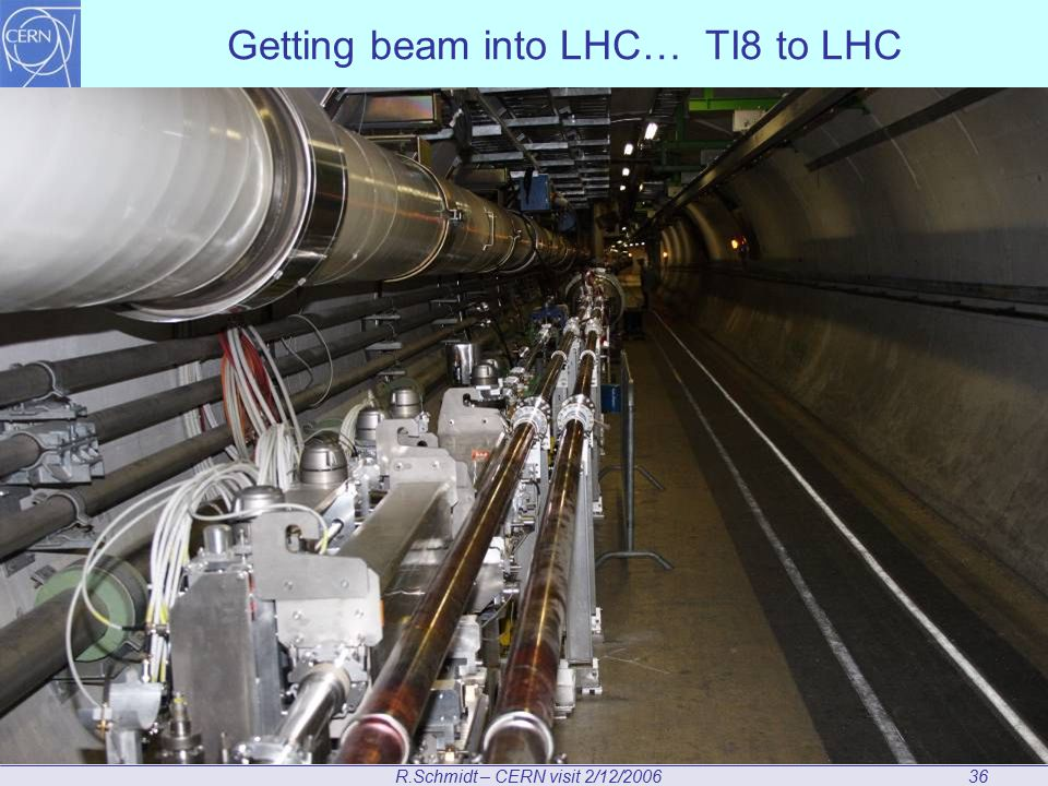 R.Schmidt – CERN visit 2/12/200636 Getting beam into LHC… TI8 to LHC