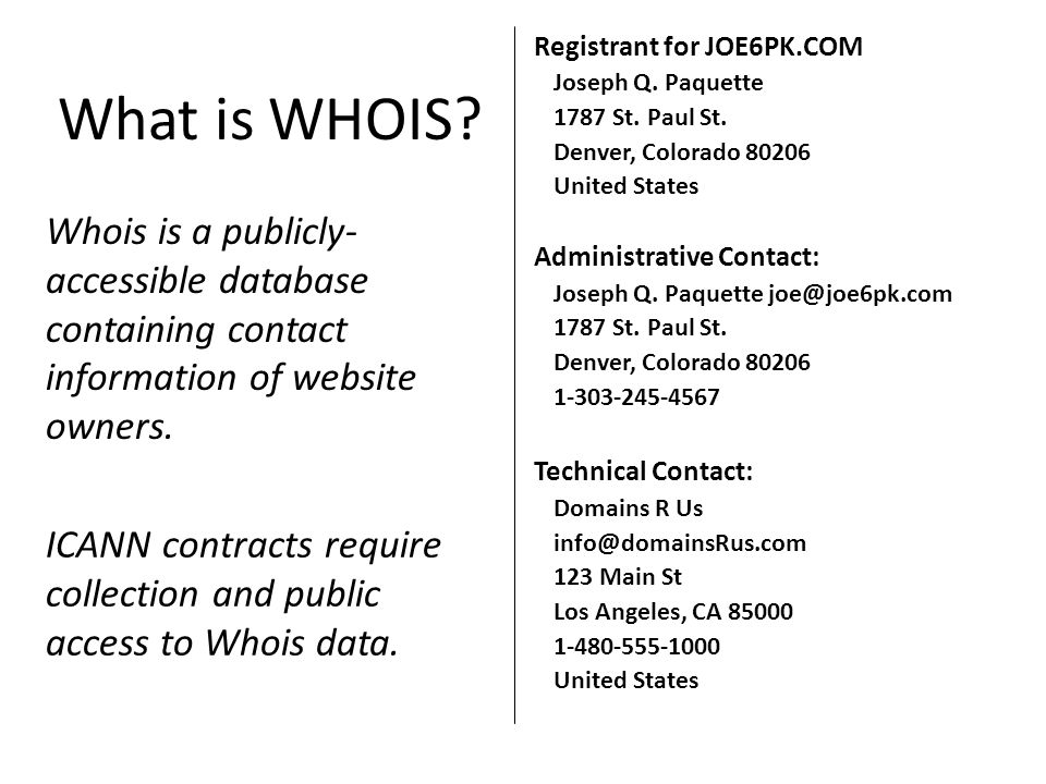 What is WHOIS.