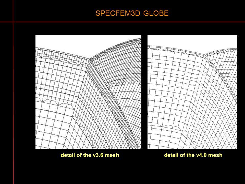SPECFEM3D GLOBE detail of the v3.6 meshdetail of the v4.0 mesh