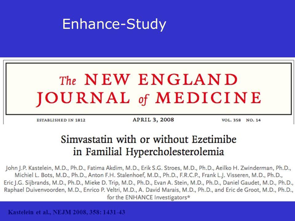 Enhance-Study Kastelein et al., NEJM 2008, 358: 1431-43