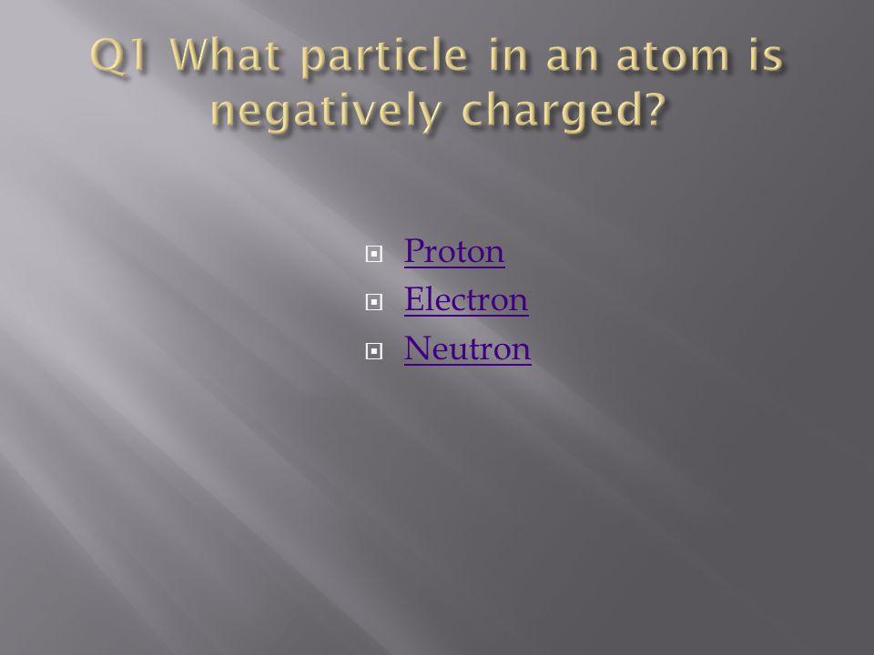  Proton Proton  Electron Electron  Neutron Neutron