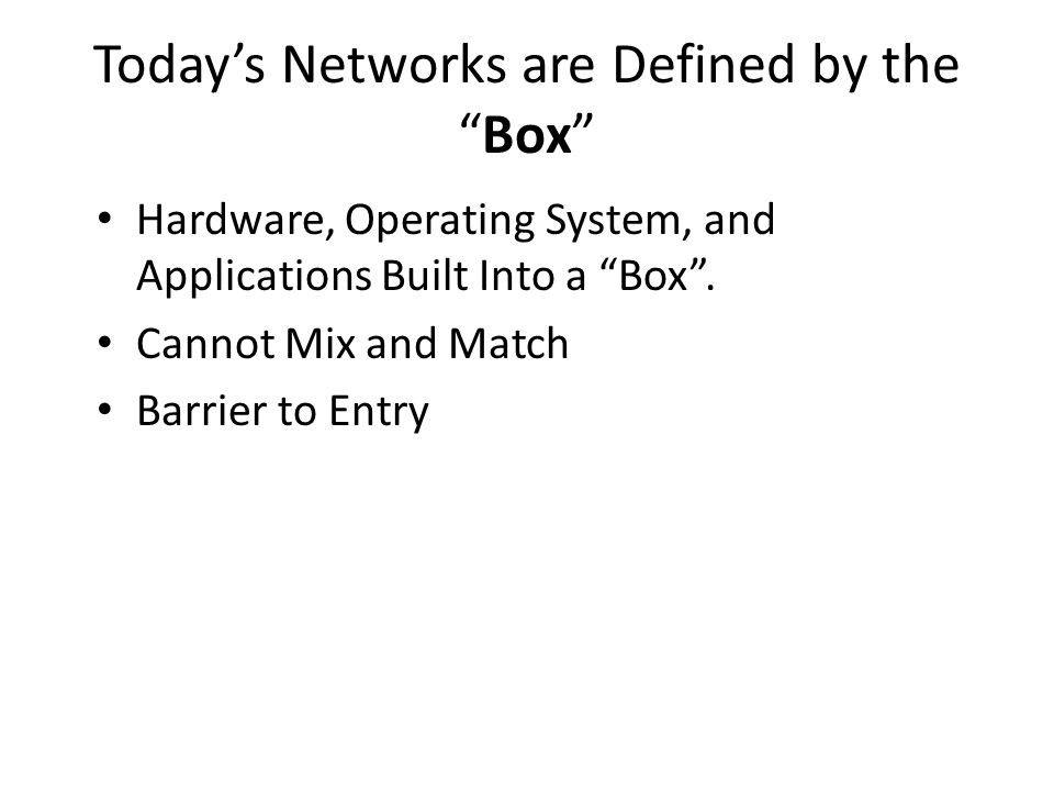 Motivations In today's networks, simple questions are hard to answer: – Can host A talk to host B.