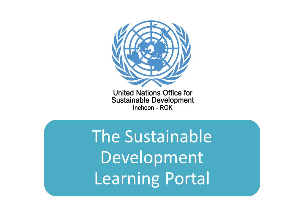 The Sustainable Development Learning Portal