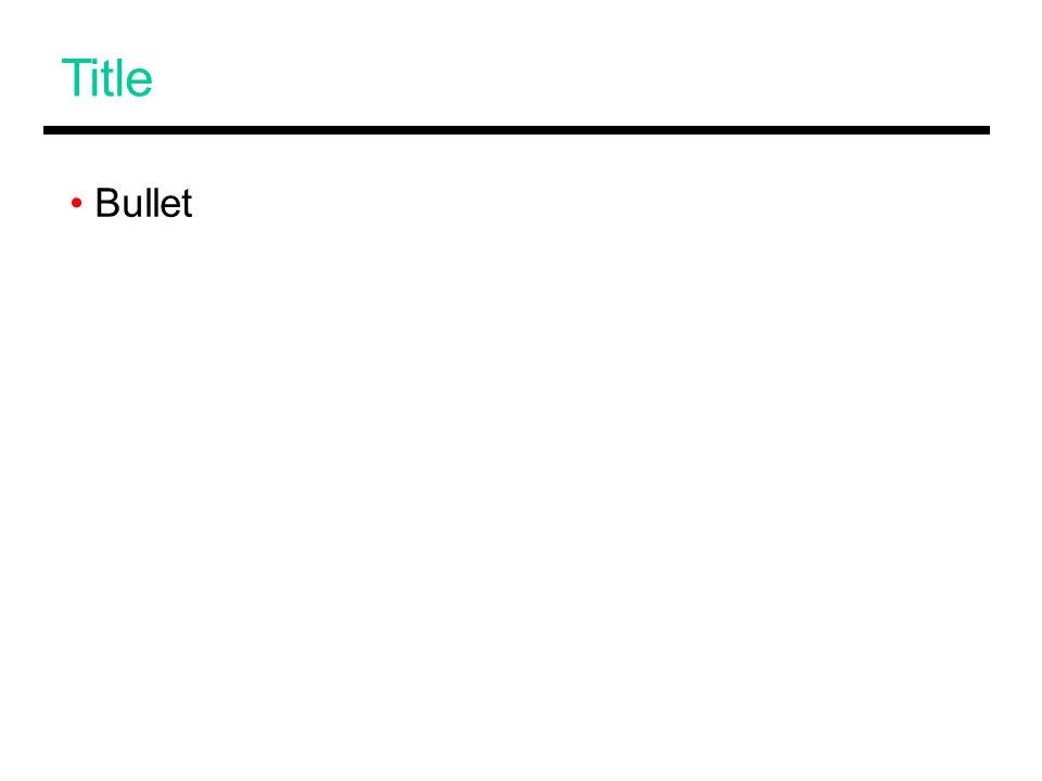 Title Bullet