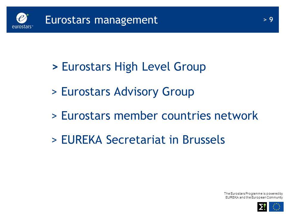 The Eurostars Programme is powered by EUREKA and the European Community > 9 Eurostars management > Eurostars High Level Group > Eurostars Advisory Gro