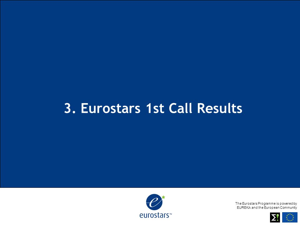 The Eurostars Programme is powered by EUREKA and the European Community 3.