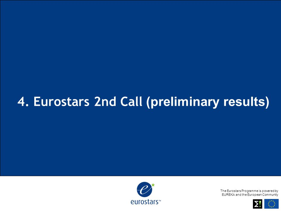 The Eurostars Programme is powered by EUREKA and the European Community 4.