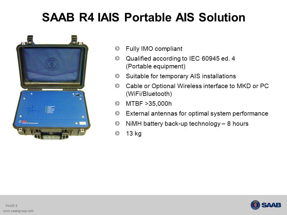 SAAB R4 IAIS Portable AIS PAGE 9 www.saabgroup.com