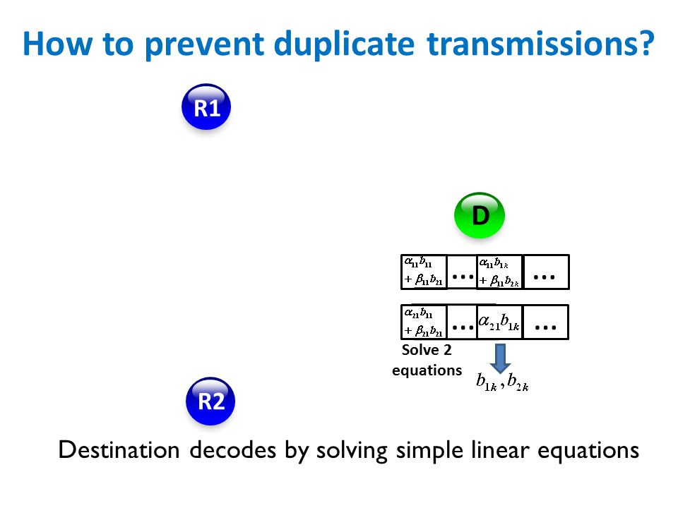 How to prevent duplicate transmissions.