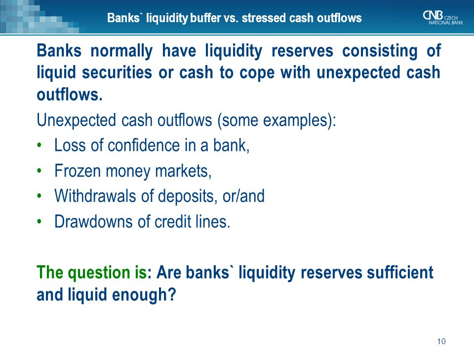 10 Banks` liquidity buffer vs.