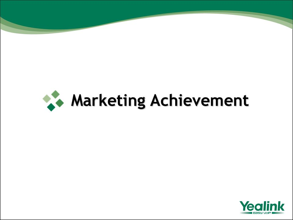 Marketing Achievement