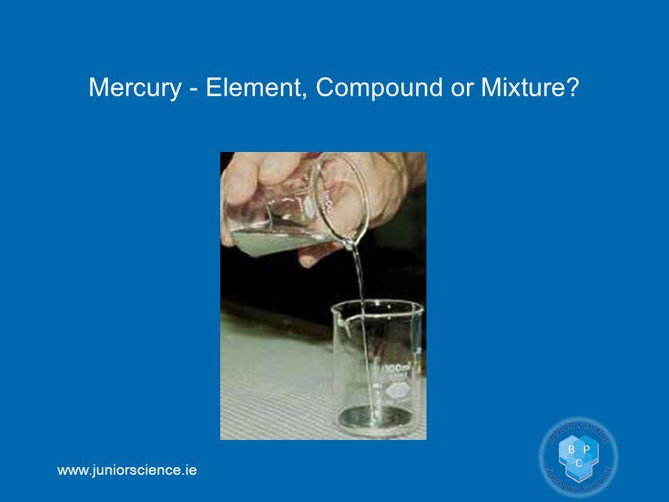 www.juniorscience.ie Mercury - Element, Compound or Mixture?