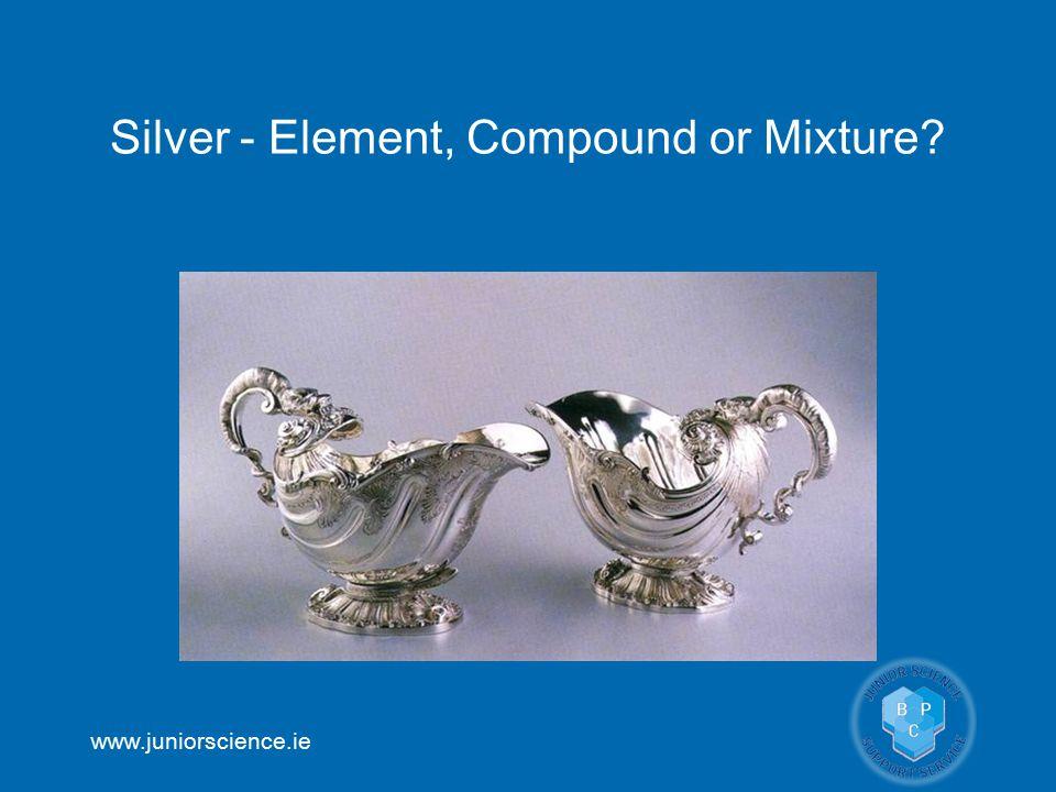 www.juniorscience.ie Silver - Element, Compound or Mixture?