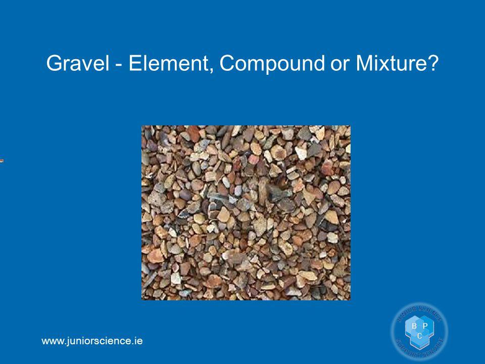 www.juniorscience.ie Gravel - Element, Compound or Mixture?