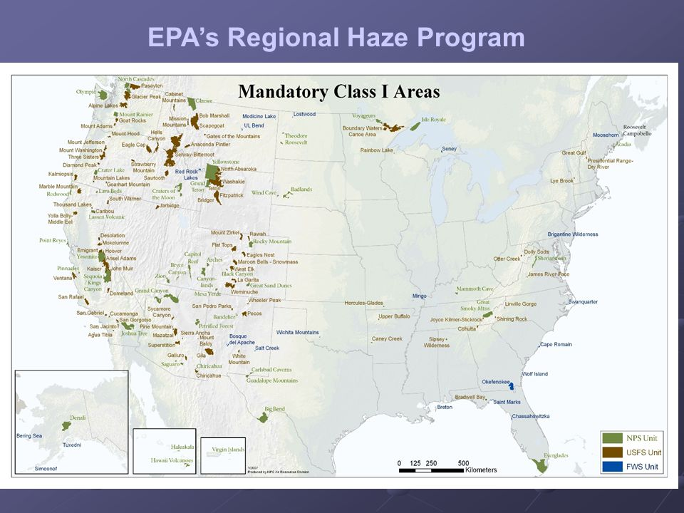 Regional Haze (RH) SIP Status RH SIPs due 12-17-2007: All 50 states + DC + VI + Albuquerque/Bernalillo County (NM) All 50 states + DC + VI + Albuquerque/Bernalillo County (NM) National Submittal Status: 15 final RH SIPs in (14 States; 1 County) 15 final RH SIPs in (14 States; 1 County) Region 4 Submittal Status: 6 of 15 final SIPs are R4: (AL, KY, MS, NC, SC, TN) 6 of 15 final SIPs are R4: (AL, KY, MS, NC, SC, TN) GA Draft RH SIP for EPA/FLM review; being revised into Proposed SIP for public comment – Spring '09 GA Draft RH SIP for EPA/FLM review; being revised into Proposed SIP for public comment – Spring '09 FL resolved BART issues - Draft SIP Summer '09 FL resolved BART issues - Draft SIP Summer '09