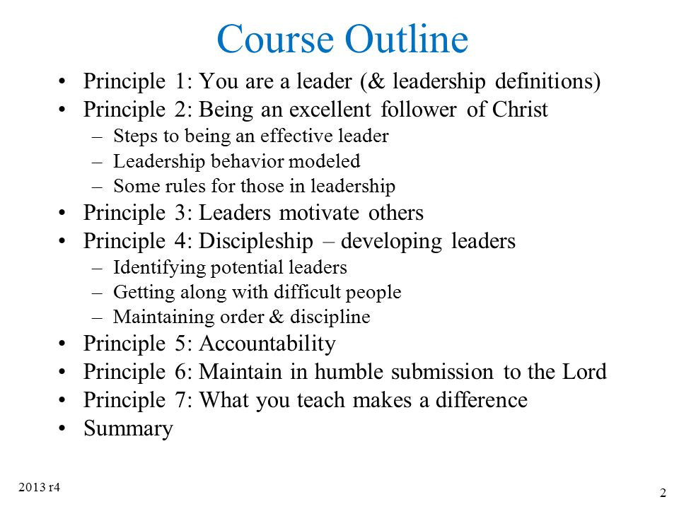 Principle 4: Discipleship 2013 r433 Discipleship is a form of self-replicating leadership development.
