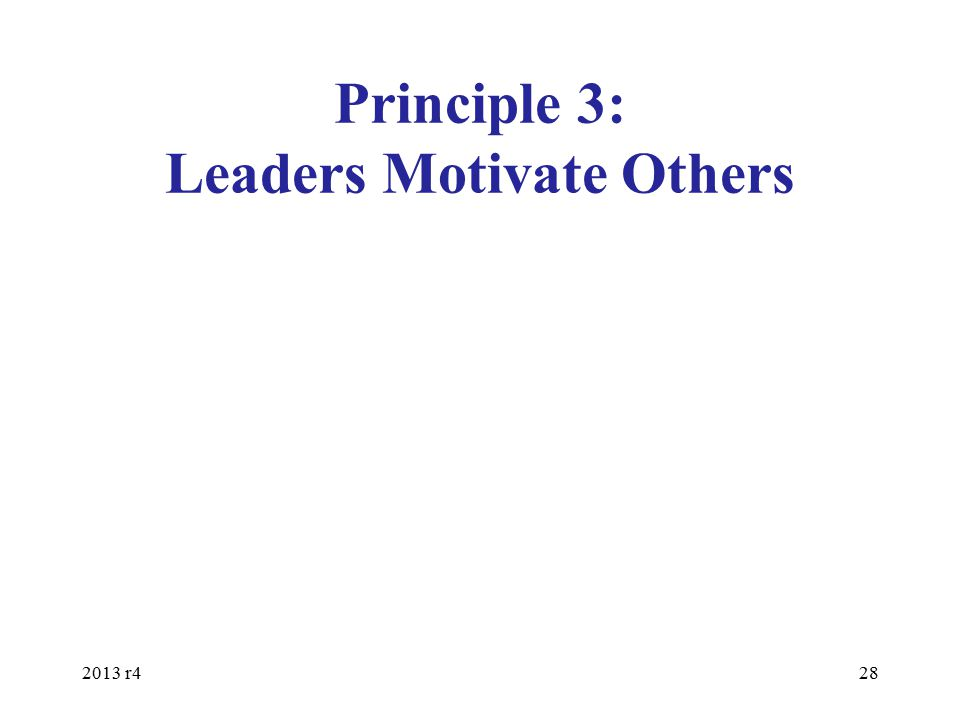 Principle 3: Leaders Motivate Others 2013 r428