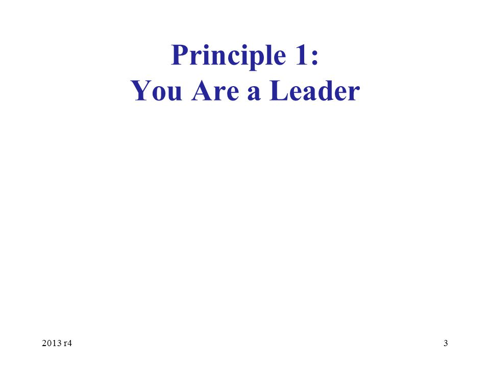 Developing Leaders Every leader needs to be developing their replacements –Everybody in important (in God's eyes), but nobody is essential (including you) –Each leader should be developing 2-12 disciples Give people an opportunity to lead with your help –Find out what they like and don't like to do –Stir up their gifts & talents –Build from strengths & assist with shortcomings 2013 r4 34
