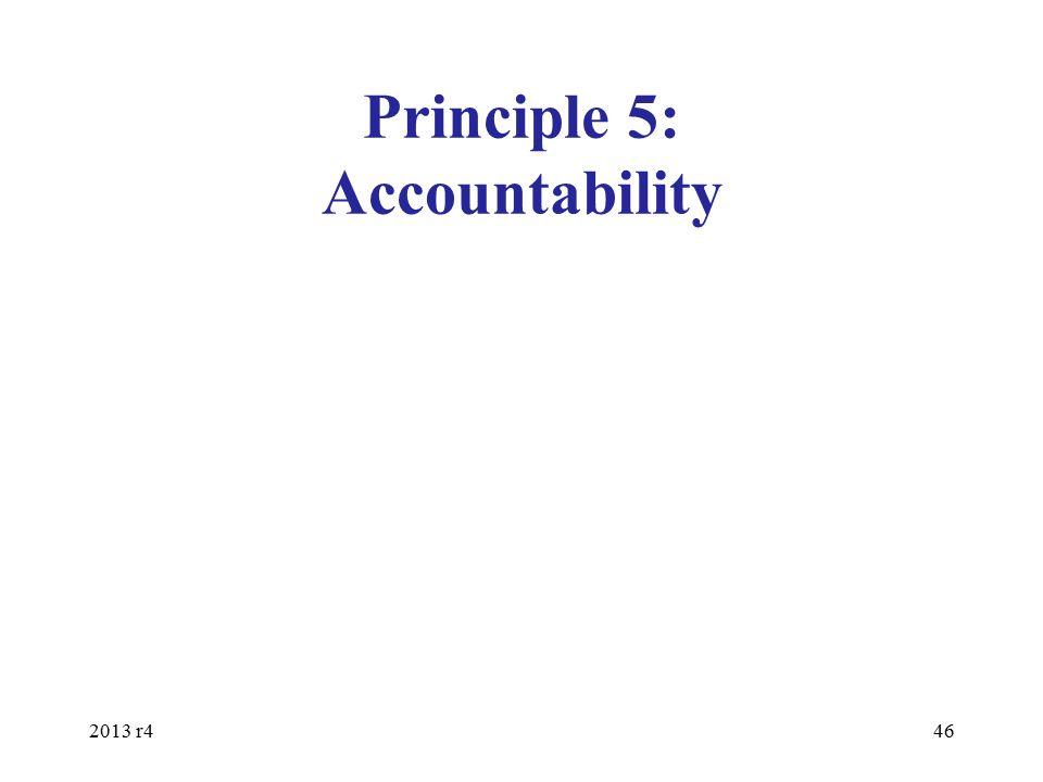 Principle 5: Accountability 2013 r446