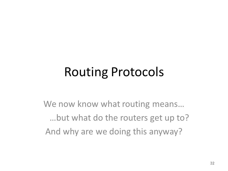 Routing Policy Issues Late May 2012: – 410000 prefixes Not realistic to set policy on all of them individually – 42000 origin AS's Too many to try and