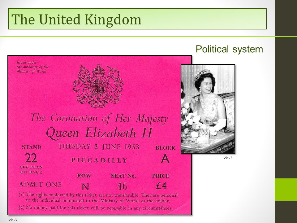  constitutional monarchy with parliamentary democracy  the head of state – a monarch (king/queen) obr.