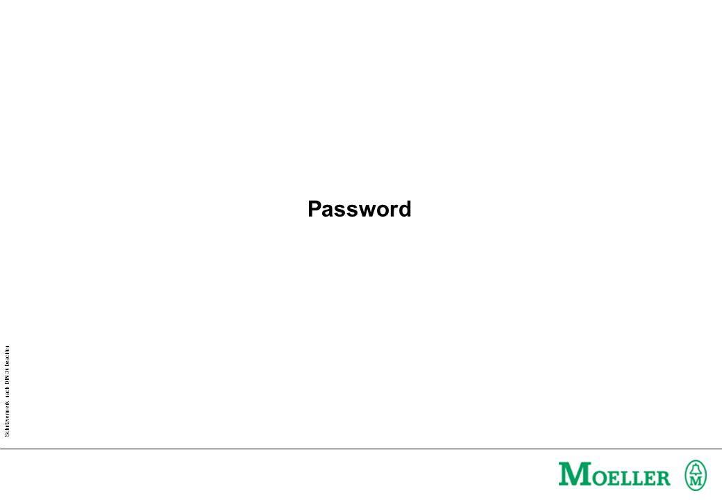 Schutzvermerk nach DIN 34 beachten The Master Password Master Password Validity in minutes With the help of the master password all passwords can be modified!