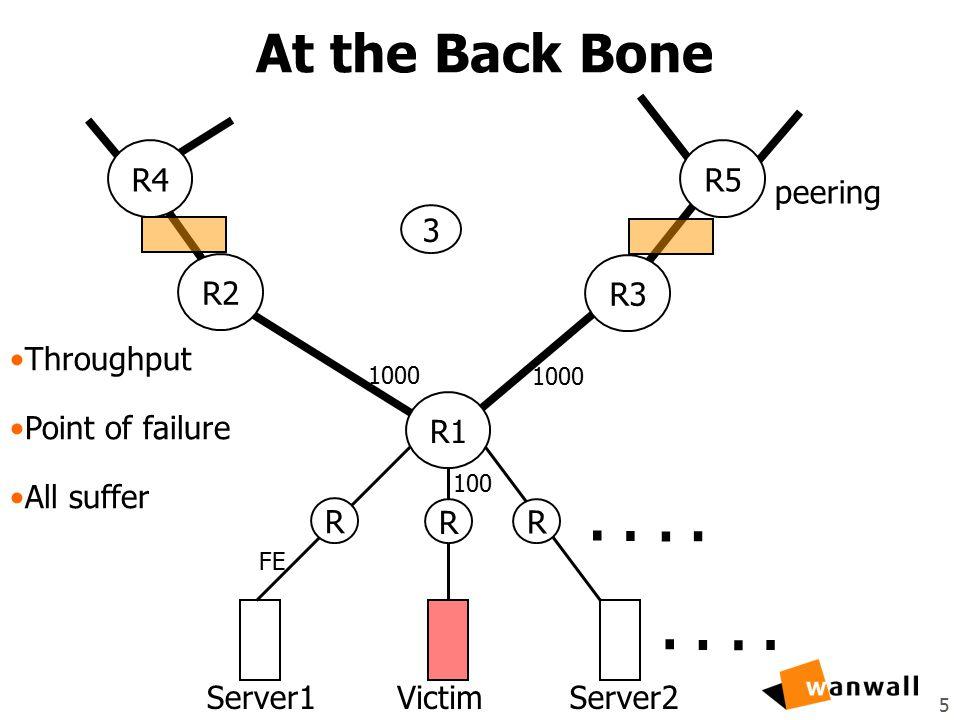 5 At the Back Bone Server1VictimServer2........