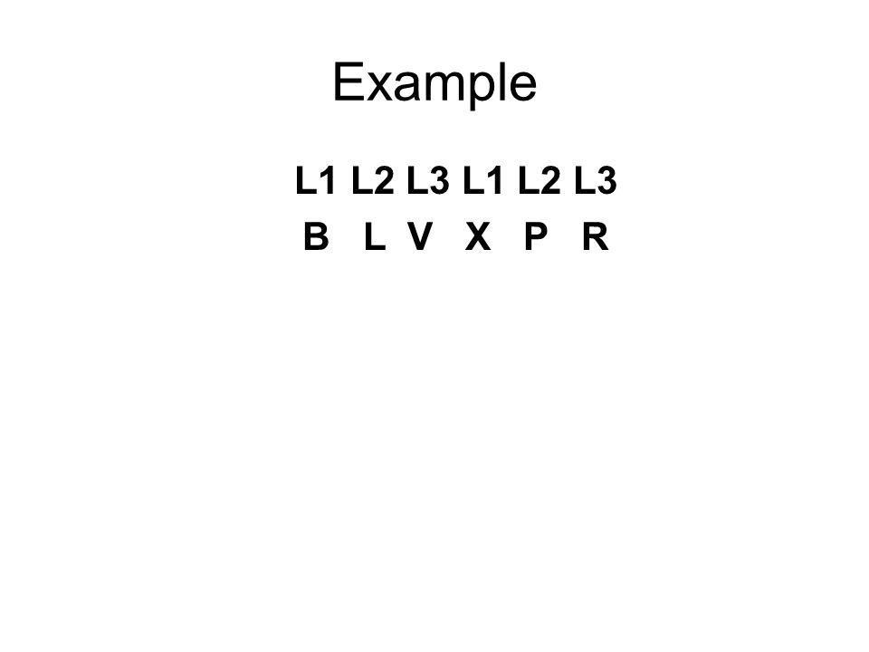 Example L1 L2 L3 L1 L2 L3 B L V X P R