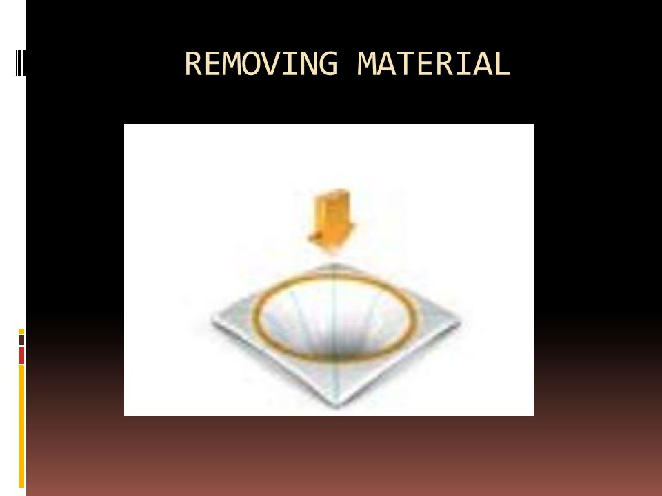 REMOVING MATERIAL