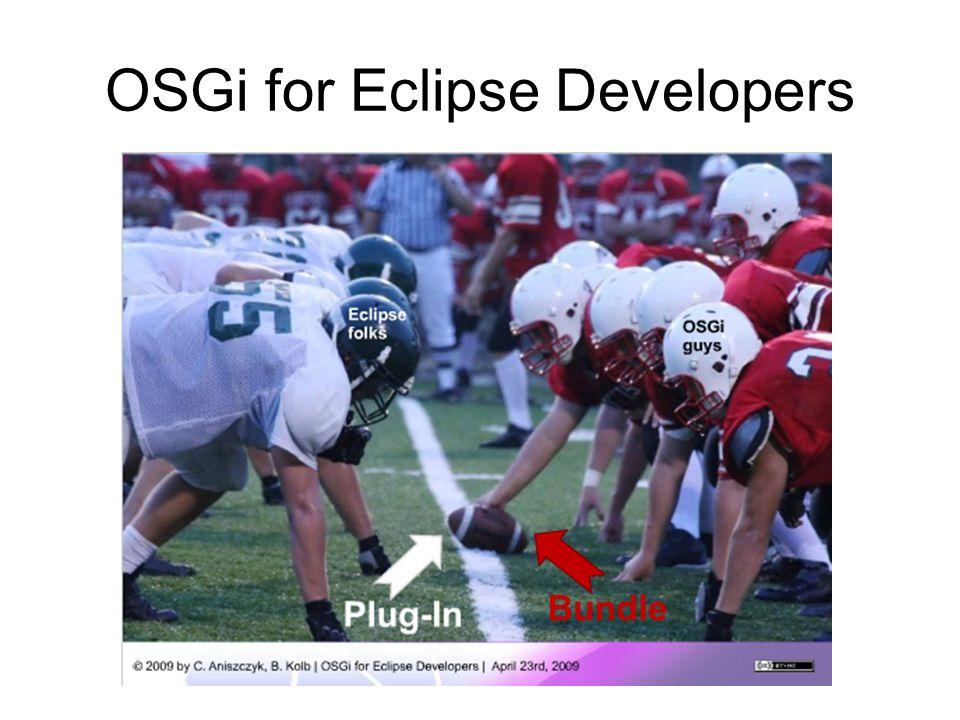 OSGi for Eclipse Developers