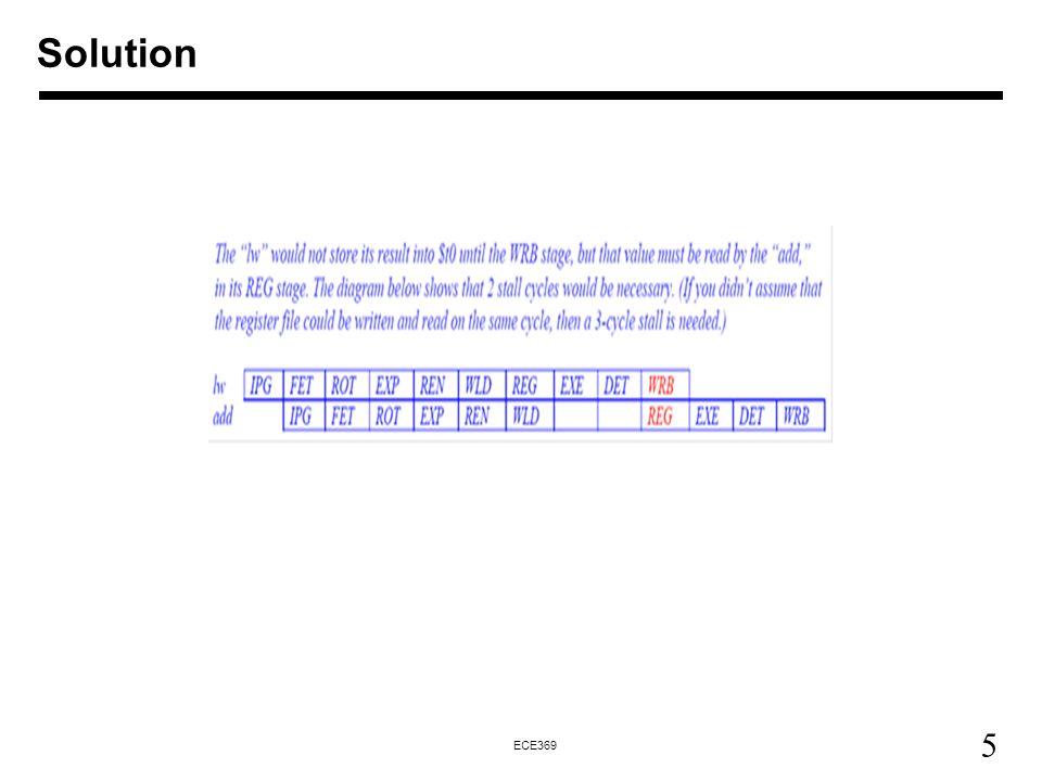 5 ECE369 Solution