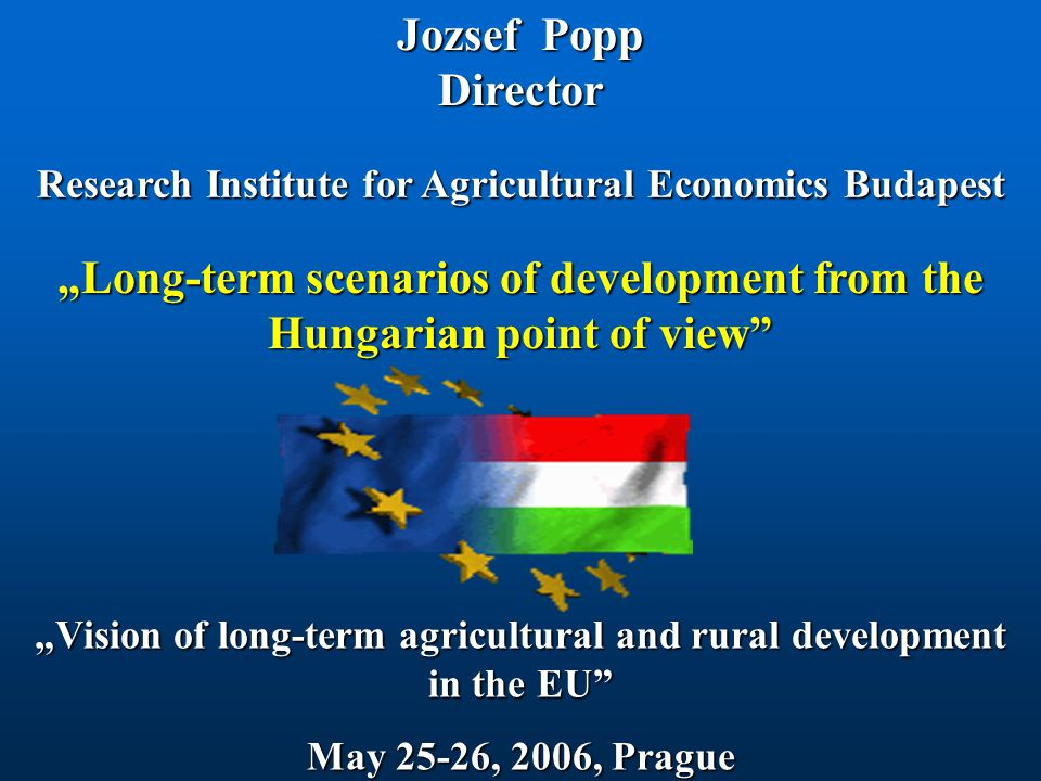 Outline  Agriculture's place in the Hungarian Economy  Cereal production and consumption in Hungary  Development of livestock number in Hungary  Structural adjustment in the Hungarian agriculture  Concluding comments