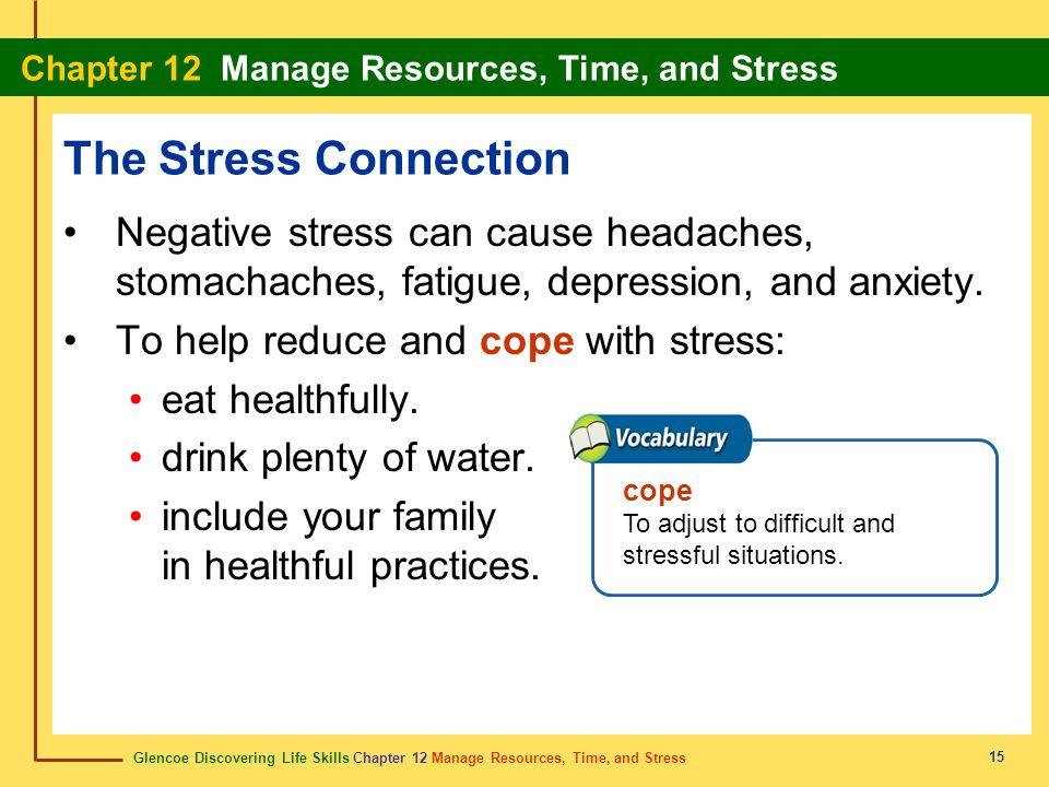 Glencoe Discovering Life Skills Chapter 12 Manage Resources, Time, and Stress Chapter 12 Manage Resources, Time, and Stress 15 The Stress Connection N