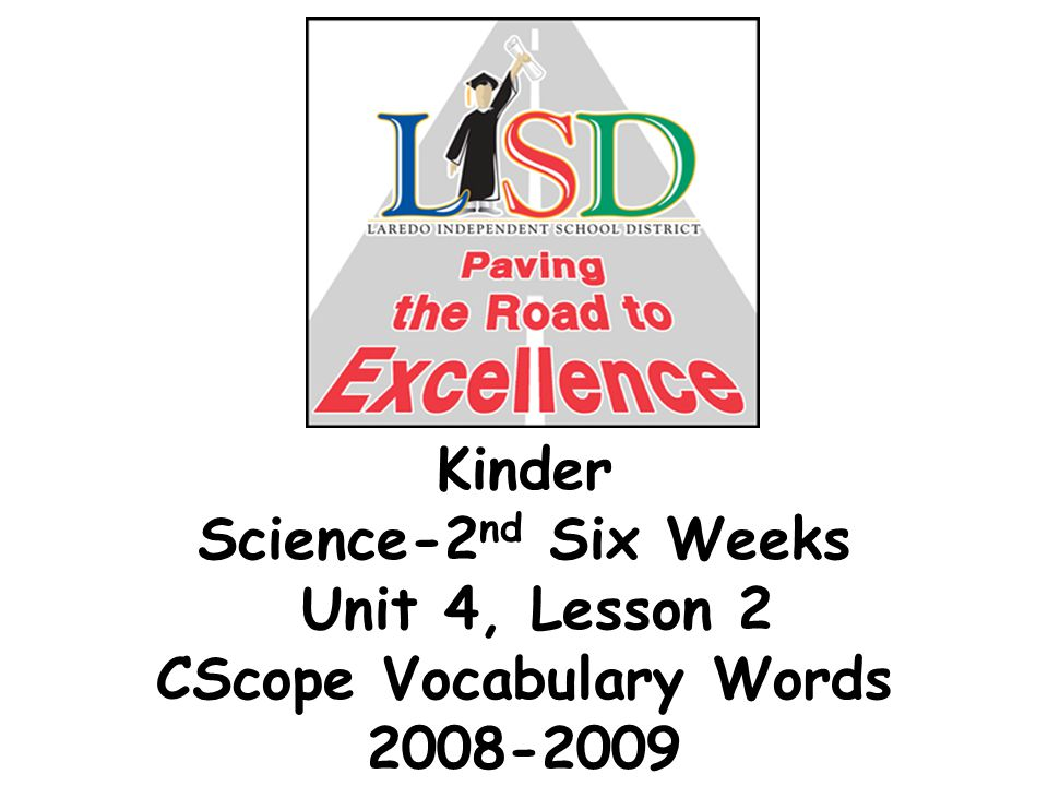 Kinder Science-2 nd Six Weeks Unit 4, Lesson 2 CScope Vocabulary Words