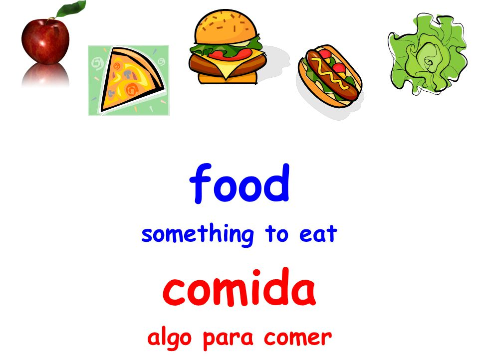 food something to eat comida algo para comer
