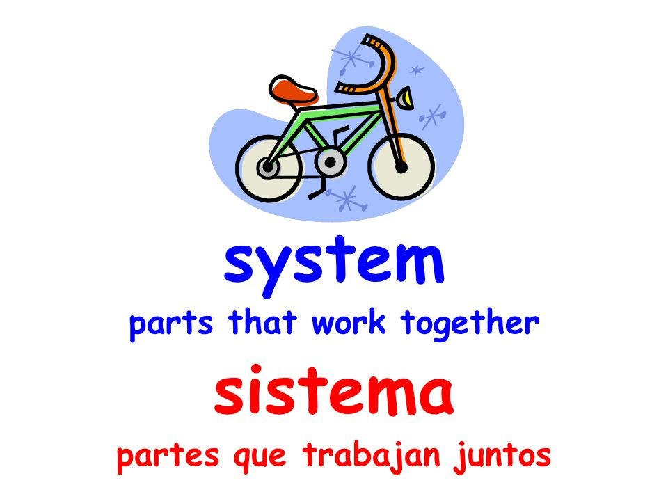 system parts that work together sistema partes que trabajan juntos