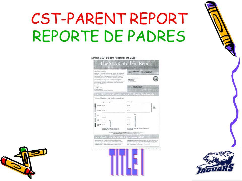 CST-PARENT REPORT REPORTE DE PADRES