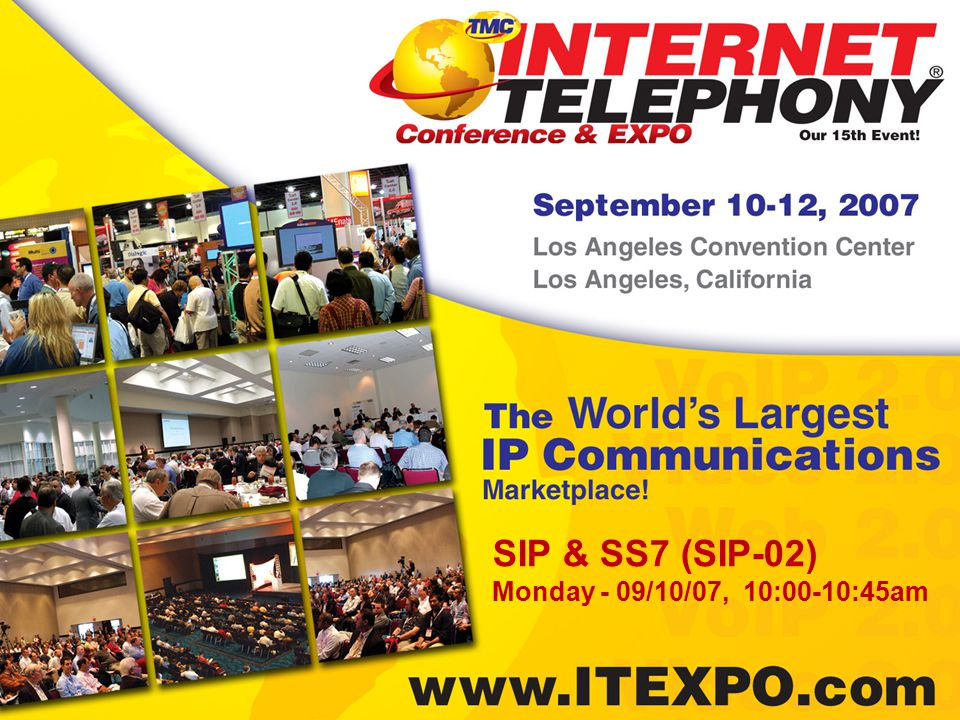 SIP-SS7 Interworking @ the Application Layer Vince Lesch VP of Product Marketing